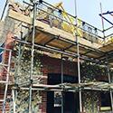 New build brick and flint