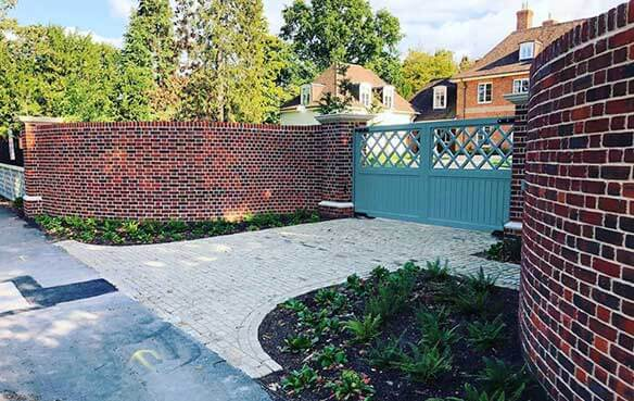 decorative brick wall construction buckinghamshire