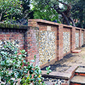 Brick and flint garden wall Marlow